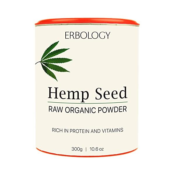 Organic Hemp Protein Powder 300g – Rich in Vitamin D and Minerals – Raw – Gluten-Free