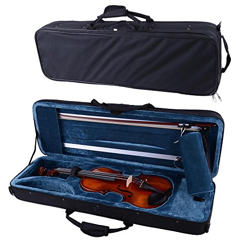 Vif 4/4 Full Size Handmade Stradivari Copy German Style Violin Fiddle Case Bow Set Natural Acoustic (Best German Violin Makers)
