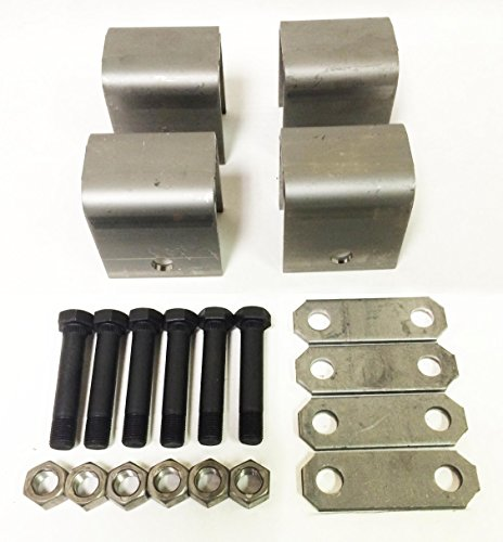 Double Eye Leaf Spring (Trailer Leaf Spring Hanger Kit for Double Eye Springs Single Axle Suspension)