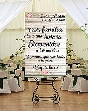Tu Fiesta Mola Mazo Cartel Bienvenida de Boda 60x100m ...