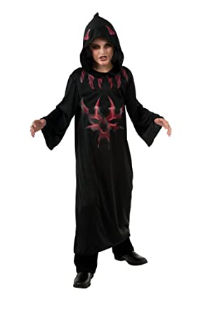 Halloween - Disfraz de Diablo Rojo de la Noche para niño, infantil 8-10 años (Rubies 881442-L)