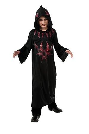 Halloween Concepts Childs Black and Grey Devil Robe, Medium