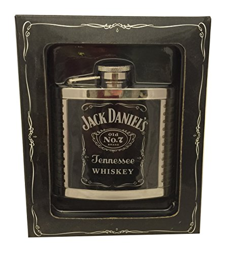 Jack-Daniels-Stainless-Steel-4oz-Ribbed-Cover-Flask