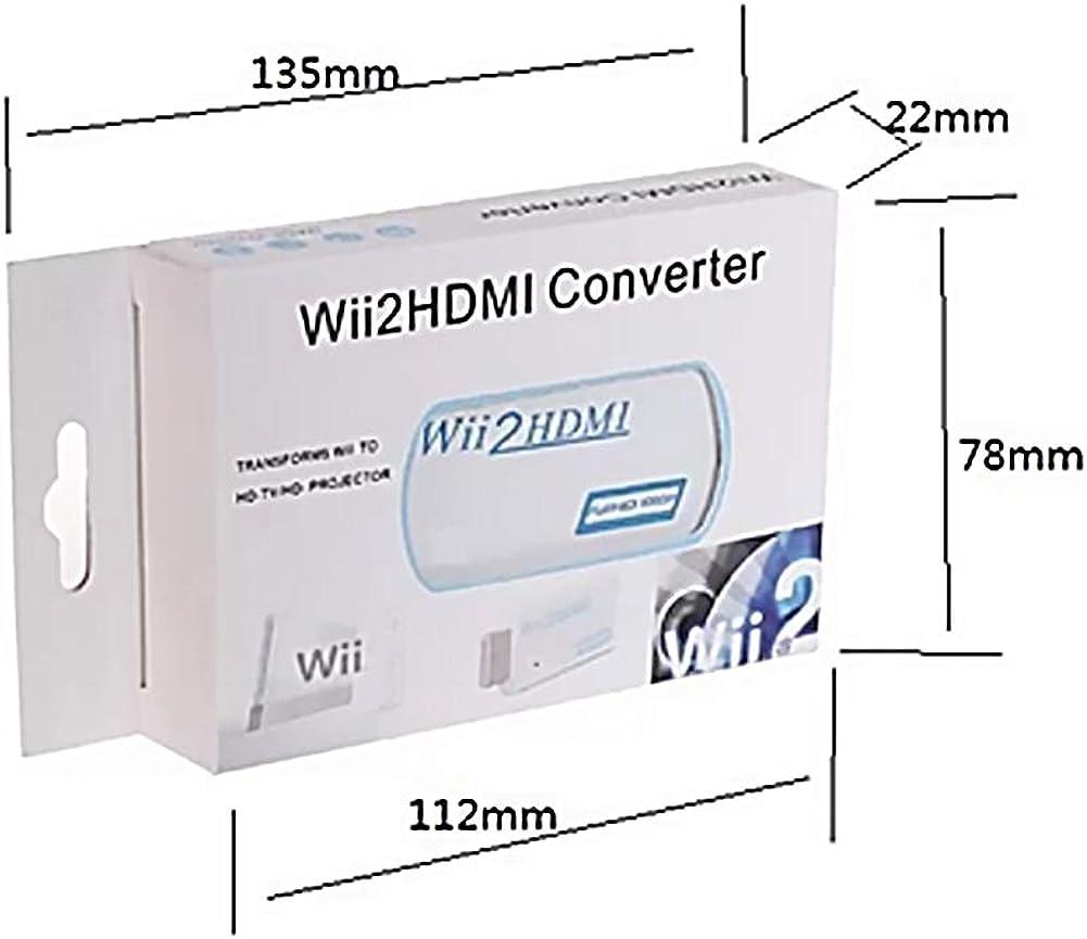 , Blanc XKJFZ Wii /à la Sortie vid/éo HDMI Supporte Tous Les Modes daffichage Wii NTSC 480i, 480p, PAL 576i convertisseur de convertisseur vid/éo Audio avec Un Port Audio