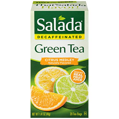 (Salada Decaffeinated Pure Green Tea - 20 Tea Bags (Pack of 6))