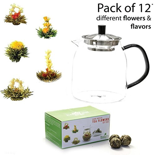 12 Blooming Flowering Green Tea Gift Box