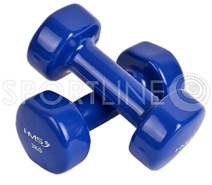 Juego de pesas mancuernas mancuernas fitness y aeróbic 3 kg Gym (Azul)