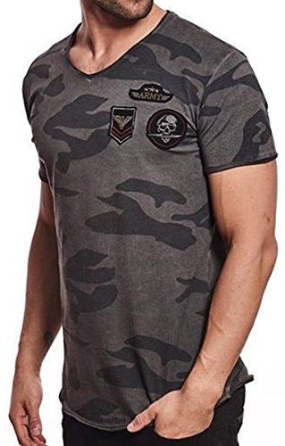 Brandneu !!! Designer T-Shirt von CARISMA in Anthrazit Camouflage CRM4410
