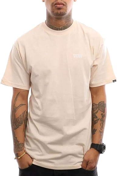Vans T-Shirt Rose Homme Left Chest Logo: Amazon.fr ...