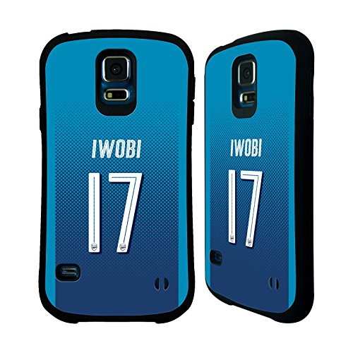 Official Arsenal FC Alex Iwobi 2017/18 Players Away Kit Group 1 Hybrid Case for Samsung Galaxy S5 / S5 Neo