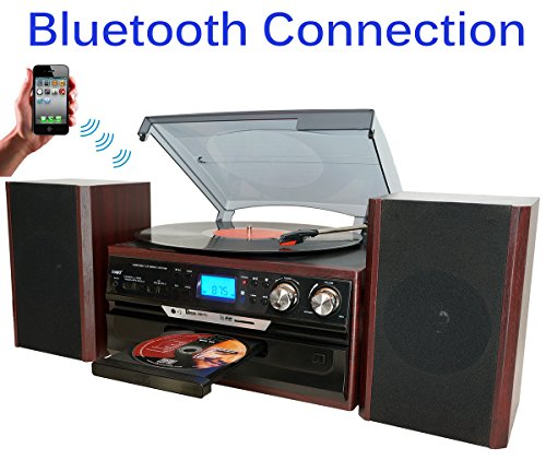7-in-1 Boytone BT-24DJM Turntable with Bluetooth Connecti...