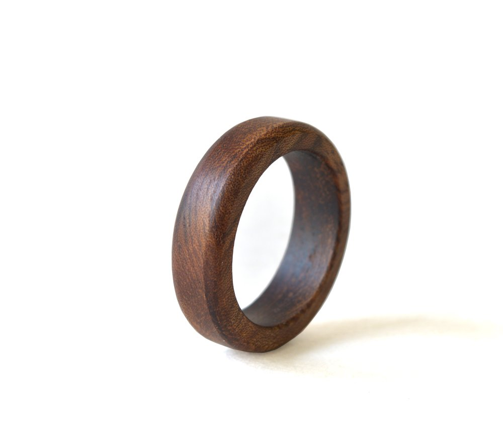 Almond Wood Ring, Wood Ring, Women Wedding Band, Wedding Ring, Almond Ring, Wood Wedding Jewelry, Almond Jewelry, Wooden Men Ring