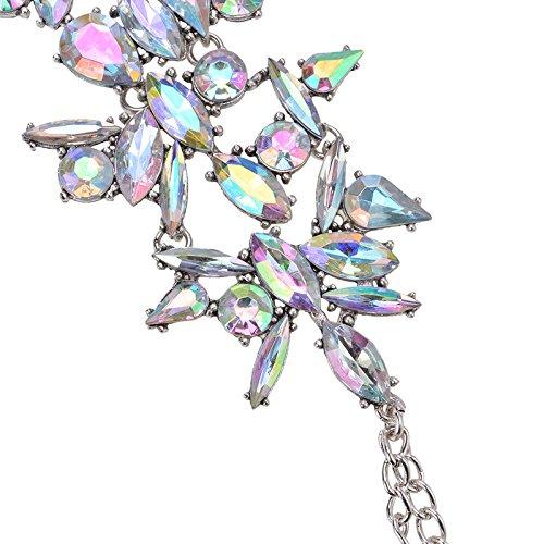 Yazilind Alliage Strass exag/ér/é Cheville Europe Boho Style Accessoires de Plage de Vacances Fleur Cheville Bracelet cha/îne r/églable