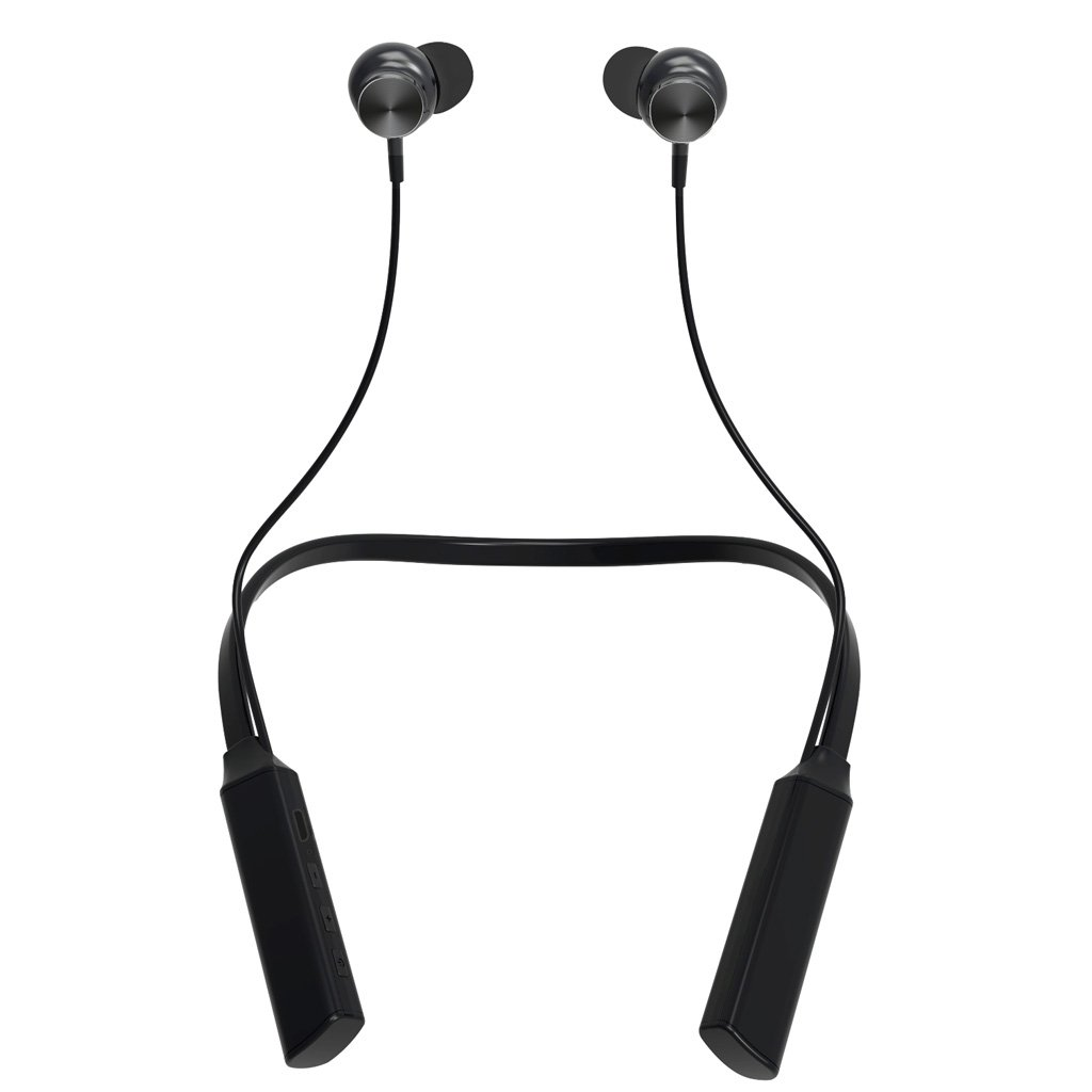 Bluetooth Earbuds, Wireless Neckband Headphones with Microphone HD Stereo In Ear Sport Earphones CVC6.0 Noising Cancelling Headset Magnetic(7-10 Hours Playing Time)for iPhone PC Android (Black)