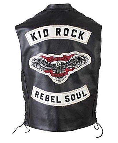 Kid Rock Rebel Soul Leather Vest - - Vest Leather Childs
