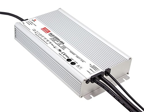 Meanwell Waterproof 24V 600w 5-Year Warranty LED Power Supply Driver Transformer UL Approved 120 to 12 Volt DC Output (Warranty by LEDJump) by LEDJUMP