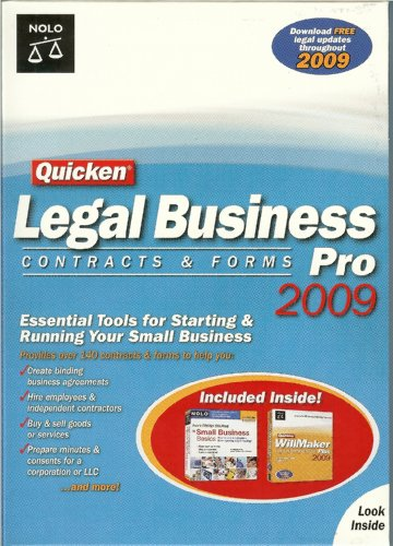 Nolo's Legal Business Pro 2009 Contracts & Forms Plus Bonus Small Business Basics & WillMaker Plus 2009 Bundle