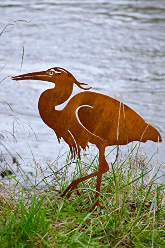 Great Blue Heron Rusty Metal Sculpture