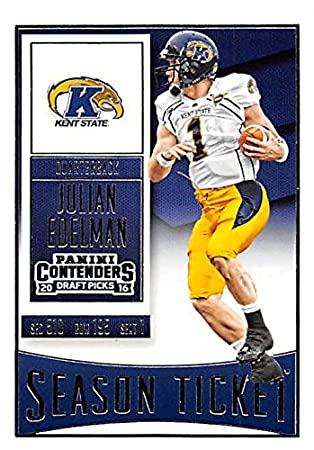 big sale 864a7 9799a Julian Edelman football card (Kent State) 2016 Panini Draft ...