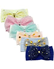 Sunny Your Day Baby Girl Bows Hair bows for toddlos girls Super Soft Stretchy Headbands with Cute Fashion Bow for Newborn, Infant, Toddler and Kids