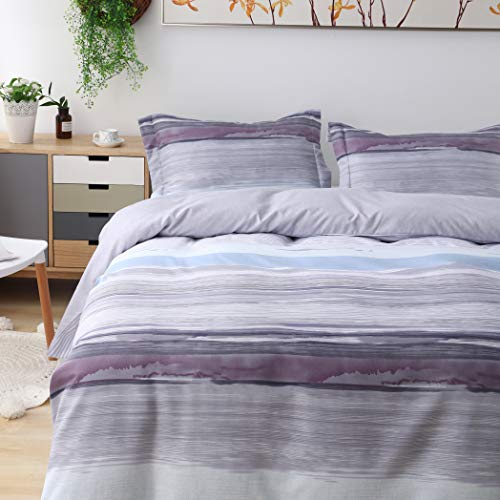 5 Piece Duvet Cover Bedding - Candid Bedding Duvet Cover Set Printed 5 Piece Duvet Cover 4 Pillow Shams Ultra Soft with Zipper Closure Reversible (Queen, Multicolor)