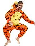 Tigger Onesie Costume for Adult and Teens - Halloween Animal Pajama Kigurumi Costume