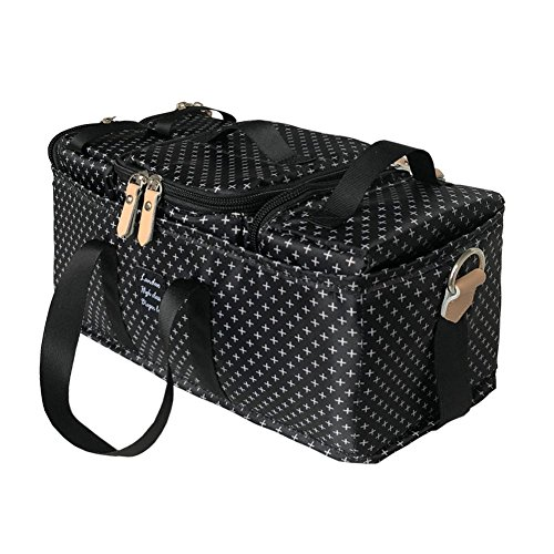 Sized Cube - Landuo Diaper Bag Multi-Function Waterproof Travel Backpack Nappy Bags for Baby Care, Spacious Tote Design Organizer with 4 Different Sized Cubes, Durable & Stylish, for Mom/Dad(Black)