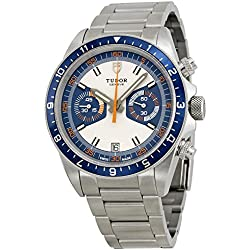 Tudor Heritage Chronograph Blue and Silver Dial Stainless Steel Mens Watch 70330B-95740