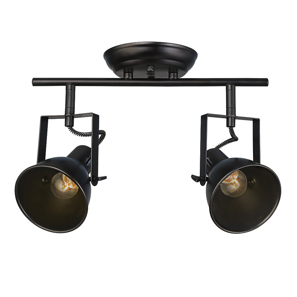 LALUZ Semi Flush Mount Adjustable Track Lighting 2-light Ceiling Lights