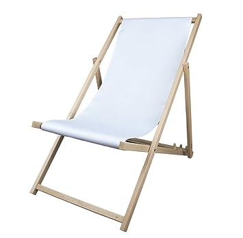 Liegestuhl Holz Mit Armlehne.Multibrands Liegestuhl Holz Ohne Armlehne Klappbar Weiß