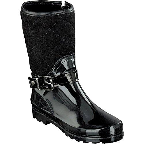502 Booty Negro Media Agua Ca Botas 7102 de Shoes gosch Mujer 9 a Forrado Sylt q86w1