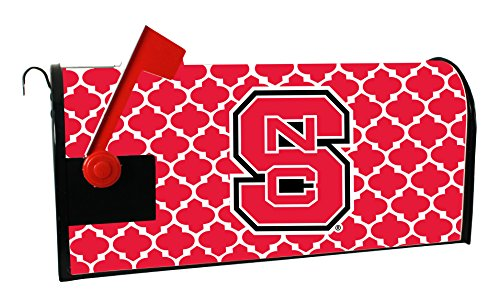 NC STATE WOLFPACK MAILBOX COVER-NORTH CAROLINA STATE UNIVERSITY MAGNETIC MAIL BOX COVER-MOROCCAN DESIGN (State University Red Carolina North)