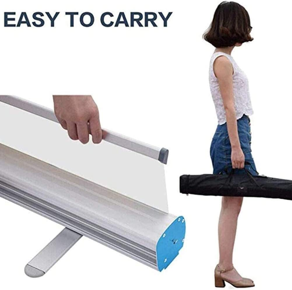 Receptionist Cashier Full Tarp with Deluxe Wide Base Single-Screen Roll Up Banner Stands Isolation Barrier Protective Shield for Cafes Retail Stores BATOWE Floor Standing Sneeze Guard