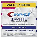 Crest 3d White Brilliance Vibrant Peppermint Toothpaste, 4.1 Ounce, 3 Count