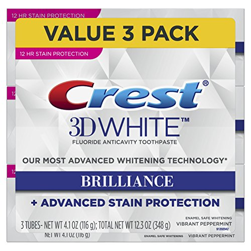 Crest 3D White Brilliance Vibrant Peppermint Toothpaste, 4.1 Ounce Tube