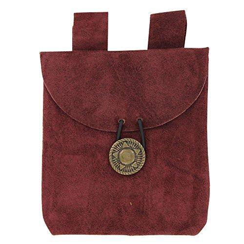 Medieval Renaissance Leather Brown Suede Pouch (Pouch Renaissance)