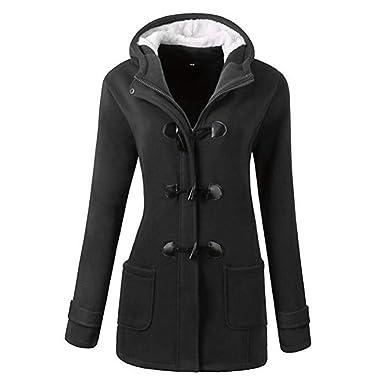 273c237b5f5109 Tomasa Damen Lange Wintermantel Trenchcoat, Herbst Winter Kapuzen-Mantel  Winterjacken Lady Solid Jacke: Amazon.de: Bekleidung