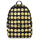 Best Emoji Backpacks For Kids - Hynes Eagle Printed Emoji Kids School Backpack Black Review