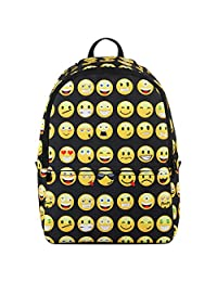 Hynes Eagle Emoji Kids' School Backpack (Black)