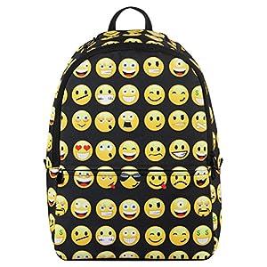 4bc31c896d High Quality Black Emoji Backpack (Girl Boy)