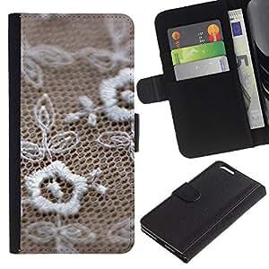 Billetera de Cuero Caso del tirón Titular de la tarjeta Carcasa Funda del zurriago para Apple Iphone 6 PLUS 5.5 / Business Style Jewelry texture