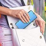 Clickfleek Luxuries Clear View Standing Mirror Flip Cover for Xiaomi Mi Redmi Note 10S (Blue)