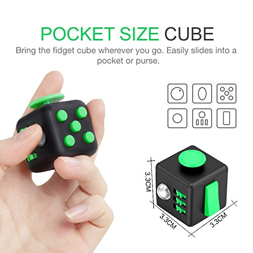 Fidget Cube Toy Relieves Stress Anxiety Toys Helps to Focus For Adults and Children Finger Training - 3