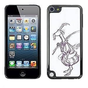 rígido protector delgado Shell Prima Delgada Casa Carcasa Funda Case Bandera Cover Armor para Apple iPod Touch 5 /Drawing Art Fairytale Forest/ STRONG