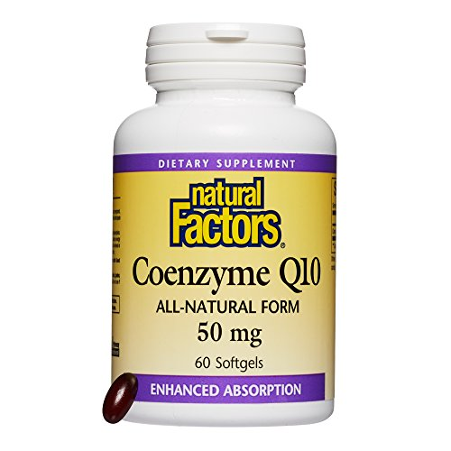 Natural Factors - Coenzyme Q10 50mg, Antioxidant Support to Protect Against Free Radical Damage, while Promoting Cellular Energy Production and Heart Health, 60 Softgels
