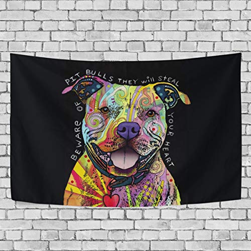 OPRINT Graffiti Painting Dog Tapestries 80 x 86 Wall Decor Tapestry Wall Art Bedroom Living Room Dorm Wall Hanging Home Decor Tapestry