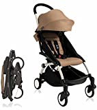 Babyzen 2018 Yoyo+ 6+ Stroller - White Frame (Rain Cover Included!) (Taupe)