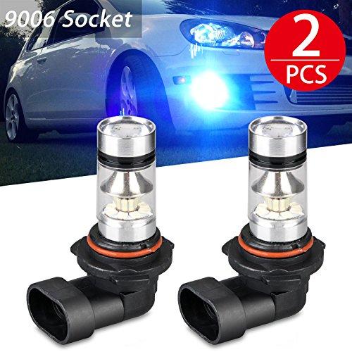 9006 HB4 LED Fog Light Bulbs LinkStyle 2 Pack 8000K High Power LED Fog driving Light Replacement Bulbs, 60W Daytime Running Bulbs for Fog Light Lamps Replacement- Ice Blue