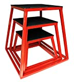 "Plyometric Platform Box Set- 12"",18"", 24"" Red"