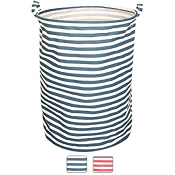 BUYUE Laundry Hamper Large Folding Basket Waterproof Fabric Cotton-Linen Home Storage Handle 15
